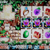 Monkey Land Cherry Master LCD Video Slot Machine Game