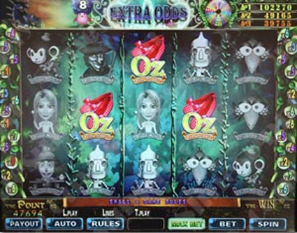 wizard of oz slot machine for sale