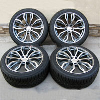 "22"" BMW 5-Spoke Style x5 3.0, 4.4, 4.8 Staggered Wheels Tires BMW x5 x6 Rims"