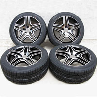 "20"" Mercedes Benz Wheel and Delinte Tire Package with Rims ml350, ml500 and ml550 Black"