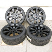 "20"" Range Rover Evoque 9-Spoke Style Wheel and Tire Package Matte Black"