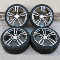 "19"" BMW m5 Silver Style Staggered Wheels and Tires for BMW 525, 528, 530, 535, 540, 545"
