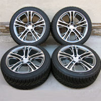 "20"" BMW X6 M, 35i, 50i and X5 M 3.0, 4.4, 4.8 Wheels and Delinte Tires BMW x5 x6 Double Spoke Rims"