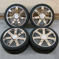 "24"" Cadillac Escalade Wheel & Delinte Tire Package"