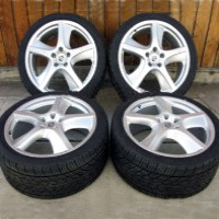 "20"" Porsche Cayenne Sport Techno Wheel and Tire Package Silver Wheels/Rims"