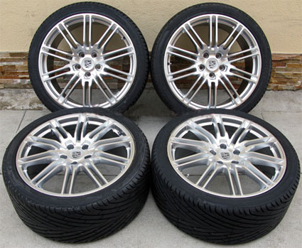 22 Porsche Cayenne Sport Edition Style Wheels and Delinte Tires