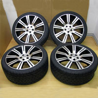 "20"" Black Machined Range Rover Stormer Wheel and Tire Package"