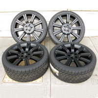 "Black 22"" Range Rover Stormer Wheel and Tire Package for HSE, Sport and LR3/LR4"
