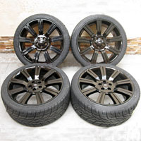 "22"" Range Rover Stormer Wheel and Tire Package Glossy Black"
