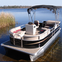 "2015 21"" Fully Loaded Cruising Pontoon Boat"