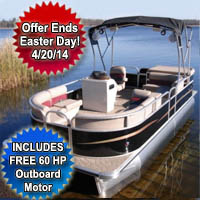 "2014 22"" Fully Loaded Cruising Pontoon Boat"