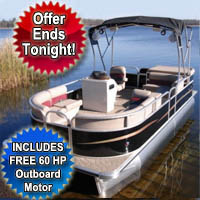 "2014 22"" Fully Loaded Cruising Pontoon Boat + 60 HP Outboard Motor"