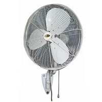 "30"" Indoor/Outdoor Oscillating Wall Fan W/ Mist Ring 8 Nozzle"