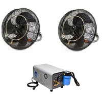 "2 18"" Fan Kit with 300 PSI Pump"