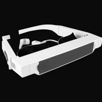 "72"" Virtual Screen Mobile Theater FLCOS Video Glasses support 720P HD video"