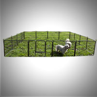 2 x 8 Panel Heavy Duty Cage Barrier Pet Dog Cat Fence Exercise Metal Play Pen Kennel