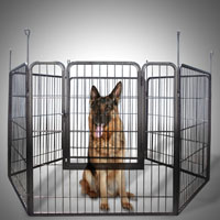 2 Large Heavy Duty Cage Pet Dog Cat Barrier Fence Exercise Metal Play Pen Kennel