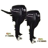 Neptune 9.9 HP 4 Stroke Long Shaft Outboard Boat Motor