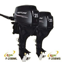 Neptune 25 HP 4 Stroke Long Shaft Outboard Boat Motor