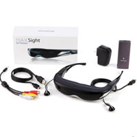 "80"" iTheater 3DMAX Virtual Video Glasses For 3D Movies Eyewear"