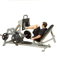 Leverage Horizontal Leg Press Workout Machine