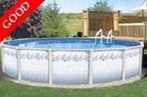 "Atlantis 12' x 24' Oval 52"" Steel Swimming Pool with 6"" Toprail"