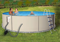"Brand New Blue Lagoon 24' Round 52"" Above Ground Swimming Pool"