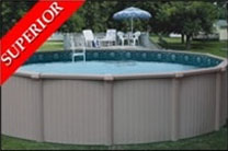 "Bermuda 28' Round 54"" Aluminum Above Ground Swimming Pool"