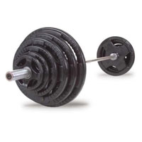 400 Lb. Rubber Grip Olympic Set
