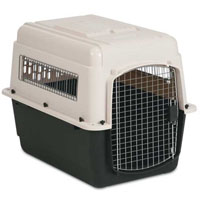 Durable Front Load Bleached Linen and Black Kennel in Four Sizes