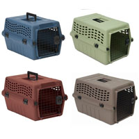 Deluxe Easy Travel Multicolored Front Load Kennel in Four Sizes