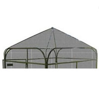 6' x 6' Expanded Metal Peaked Top for Dog Runs and Aviaries