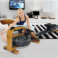 Viking Fluid Rower with Adjustable Resistance