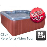 QCA 7 Person Plug & Play Hot Tub Spa with 26 Jets