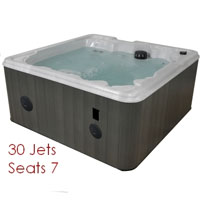 QCA 7 Person Hot Tub Spa with 30 Jets & 4HP Pump