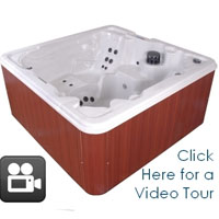 QCA 8 Person Hot Tub Spa with 53 Jets & 2 Pumps