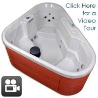 Corner Unit Plug & Play 3 Person Hot Tub Spa with 12 Jets