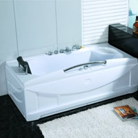 Whisper Brand New Computerized Whirlpool Bath Hot Tub Spa w/ Hydro Therapy Jets
