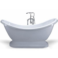Victorian Style Soaking Bathtub with Floor Faucet Included