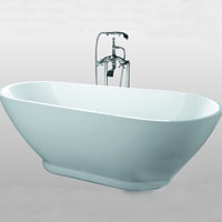 Whisper Modern Oval Pedestal Bathtub Soaking Tub