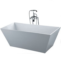 Whisper Brand New New Modern Rectangle Pedestal Bathtub Soaking Tub