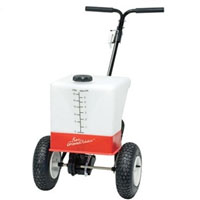 High Quality Bare Ground Rolling De-icer Applicator with a 6.5 Gallon Hopper Capacity