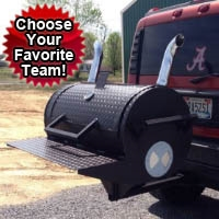 Custom Barbecue Smoker Tailgate BBQ Grill