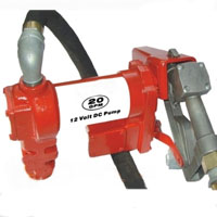 20 GPM 12V Fuel Transfer Pump w/ Hose