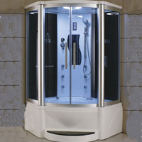 "Zen Brand New Victoria - Jetted Tub and Steam Shower 48"" x 48"" x 85"""