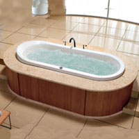 Whisper Royal A1606 Drop-In Bathtub With Massaging Jets