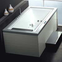 Whisper Ariel AM146 Negative Edge Whirlpool Bath Tub