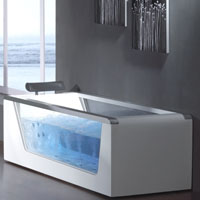 Whisper Ariel AM152 Whirlpool Bath Tub With Window