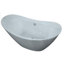 Whisper Brand New Elegant Double Slipper Tub Acrylic Bathtub