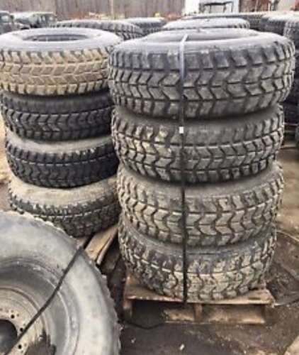 Hummer Military Jeep Wrangler 37x12 50R16 5 Goodyear MT Tires 70% - 90%  Tread - Set Of 4